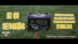 Da Box (Unboxing #47) Sportsman 2000 Gasoline Powered Portable Generator
