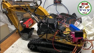 RC EXCAVATOR HUINA 580 HYDRAULIC || MODIFIED USING THE CHEAPES WAYS! QUICK TESTING!