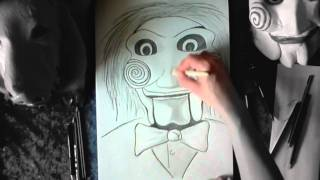 Billy The Puppet (From SAW) Speed Drawing