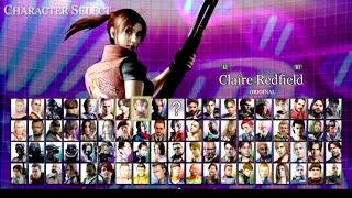 Resident Evil NEW GAME 'Mercenaries: Ultimate Collection' Startup and character select