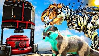 Á PEQUENA LONTRA NERD VIROU UM TERRIVEL VILÃO! Ark Animals Evolved Dinosauro