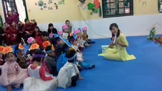 Tiết dạy thơ mẫu lấy trẻ làm trung tâm:  Thơ: Mưa. MN Hoa Sen.