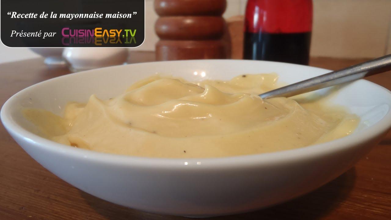 recette de la mayonnaise maison facile et rapide youtube. Black Bedroom Furniture Sets. Home Design Ideas