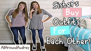 Download Lagu SISTERS BUY OUTFITS FOR EACH OTHER! SHOPPING CHALLENGE 2017 / AllAroundAudrey Gratis STAFABAND