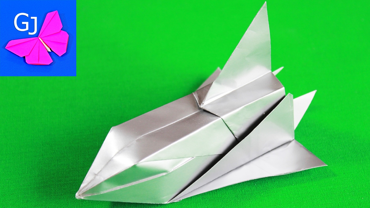 Origami Space Shuttle Glider  Pics about space