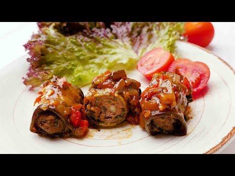 Трубочки из баклажанов с фаршем - Рецепты от Со Вкусом