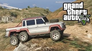★ GTA 5 - Off-Road 6x6 | Climbing Mountain In the Dubsta 6x6 (GTA V Online)