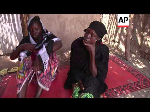 Mothers of kidnapped girl; girl who escaped from Boko Haram; community leader