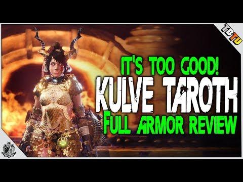 ✔️ KULVE TAROTH ARMOR REVIEW! THE BEST ARMOR IN MHW! Monster Hunter World DLC