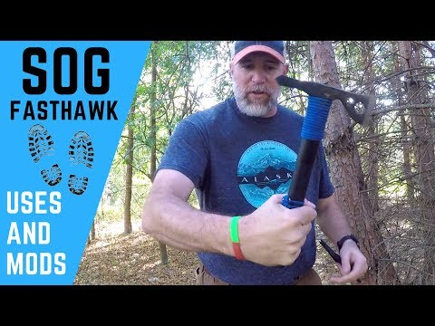 Backpacking Gear SOG Fasthawk Tomahawk Axe for Wilderness Bushcraft Activities