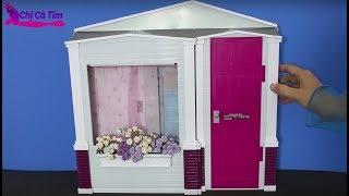 Chị Cà Tím khui ngôi nhà thông minh của búp bê Barbie - open smart dreamhouse of Barbie doll