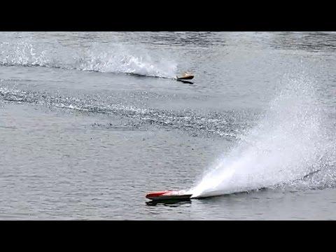 FASTEST RC RACING BOATS 140 KMH SPEEDBOAT POWERBOAT RACE / Powerboat Meeting Edderitz 2015
