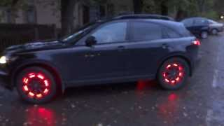 Jurmala Led lights wheel inside Infiniti FX 35