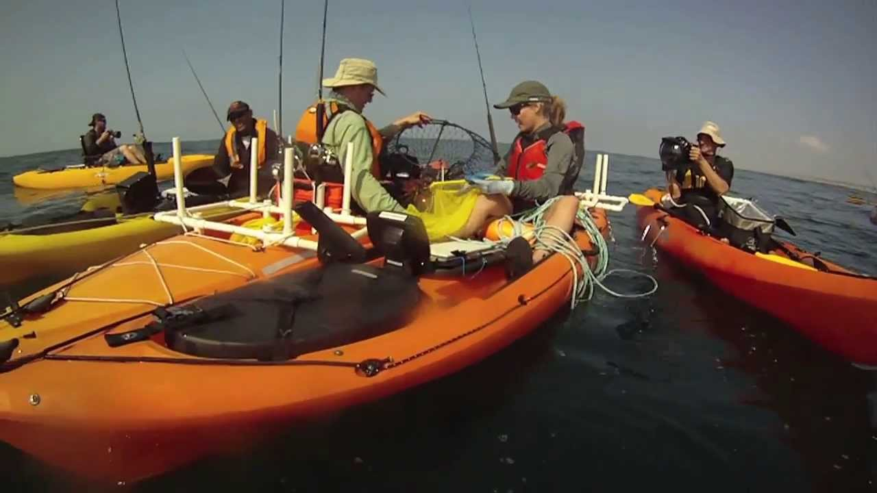 Kayak fish crab fishing youtube for Youtube kayak fishing