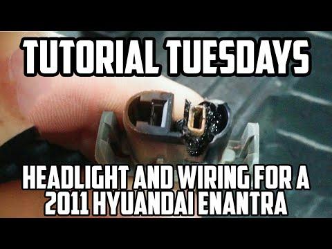Tutorial Tuesday: Changing a Headlight Bulb/Wiring of a 2011 Hyundai Elantra