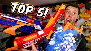 TOP 5 NERF GUNS! (Favorite, Worst, Under $30, and Best of Each Series)