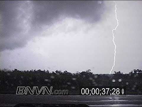 8/21/2007 Footage Of Heavy Rains And Lightning from Rushford, MN