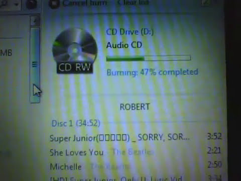 How to Burn songs using Windows Media Player CD RW and DVD RW Only