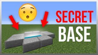 Minecraft 1.12: Redstone Tutorial - Secret Underground Entrance!