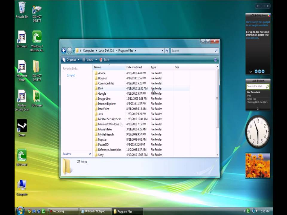 downloads pc how to clear