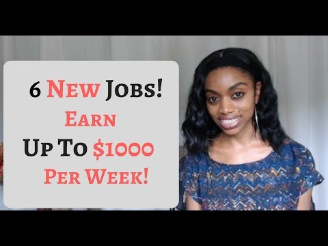 Earn Up To $1000 Per Week! 6 New Side Jobs Of 2018/19