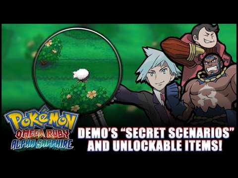 Pokémon Omega Ruby And Alpha Sapphire: News - Multiple Special Scenarios items Uncovered In Demo! video