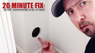 Invisible Drywall Repair WITH NO PLASTER!