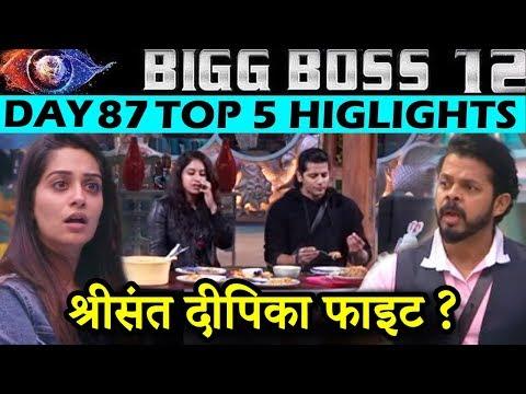 Sreesanth And Dipika Fight, Surbhi Rana Saves Sreesanth, Bigg Boss 12 Day 87 Highlights