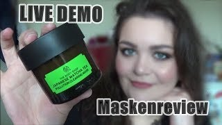 Maskenreview | The Body Shop Japanese  Matcha Tea Mask Live Demo| Desmodea