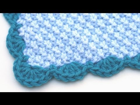 Crochet Stitches Scallop Edging : Crochet for Knitters - Scalloped Edge - YouTube