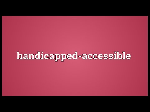Header of Handicapped-Accessible