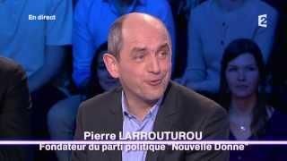 Pierre Larrouturou & les dessins - On n'est pas couché 25 janvier 2014 #ONPC