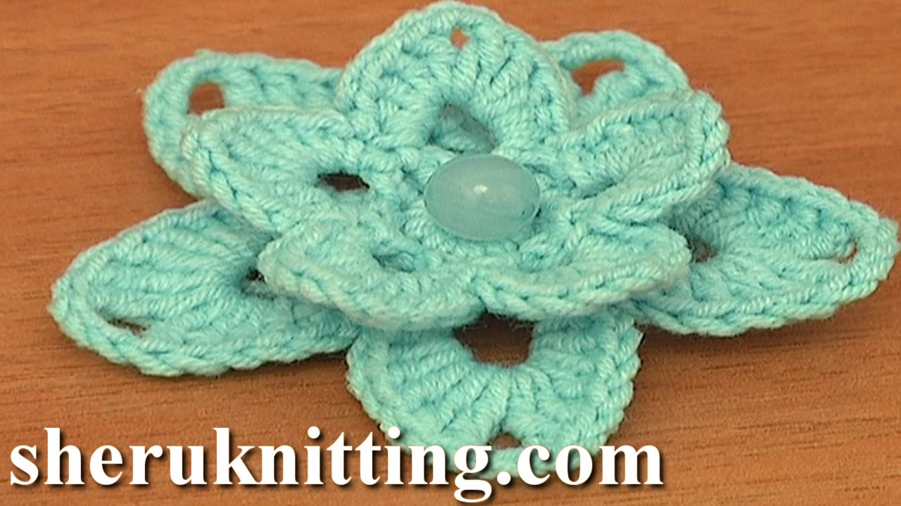 Youtube Crochet Patterns : Crochet Lily Tutorial 86 Free Crochet Flower Patterns - YouTube