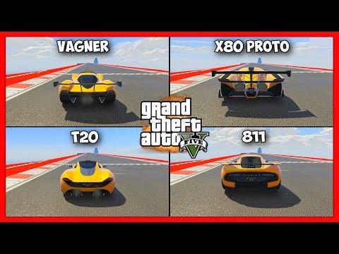 GTA 5 | Vagner vs X80 Proto vs T20 vs 811 | Сравнение Авто