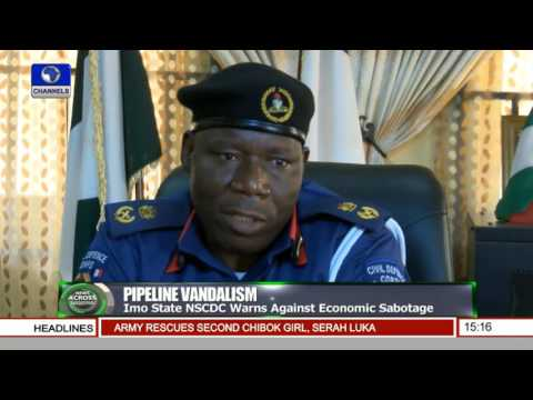 News Across Nigeria: Imo State NSCDC Warns Against Economic Sabotage Pt.2