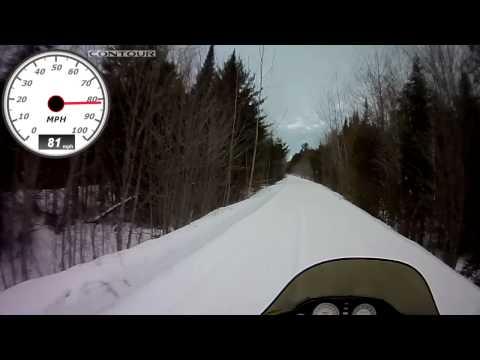 Riding 97 SkiDoo Mach Z 800 Upper Peninsula Michigan