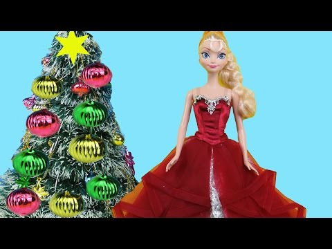 Christmas Tree Decorating! Elsa and Anna toddlers make Wish Lists for Santa, sing Carols & have fun