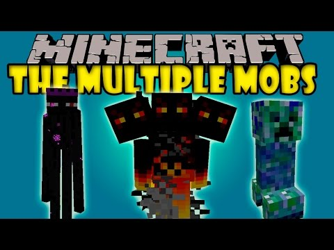 THE MULTIPLE MOBS MOD - Bosses.Creeper mascota.Diamantes infinitos! - Minecraft mod 1.6.4 Review