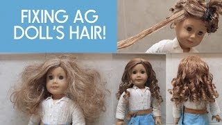 Fixing American Girl Doll Nicki's Hair!