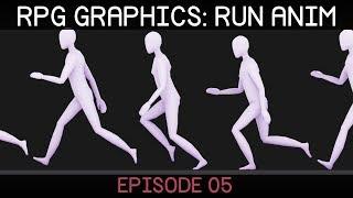 RPG graphics E05: Run animation [Blender]