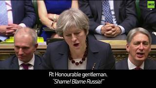 May slams Corbyn over his response to Russia Statement