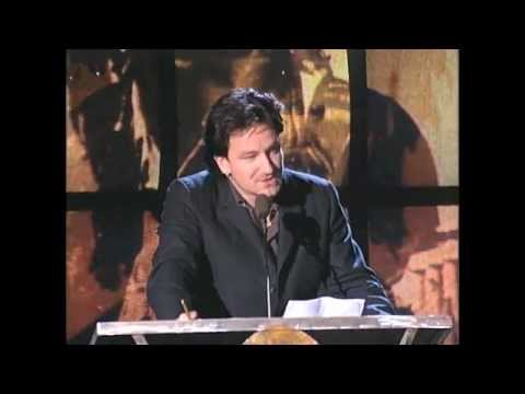 U2 frontman Bono Inducts Bob Marley in 1994