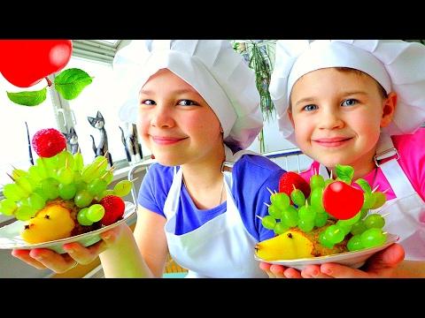 Готовим с детьми: фруктовый салат от Подружек.