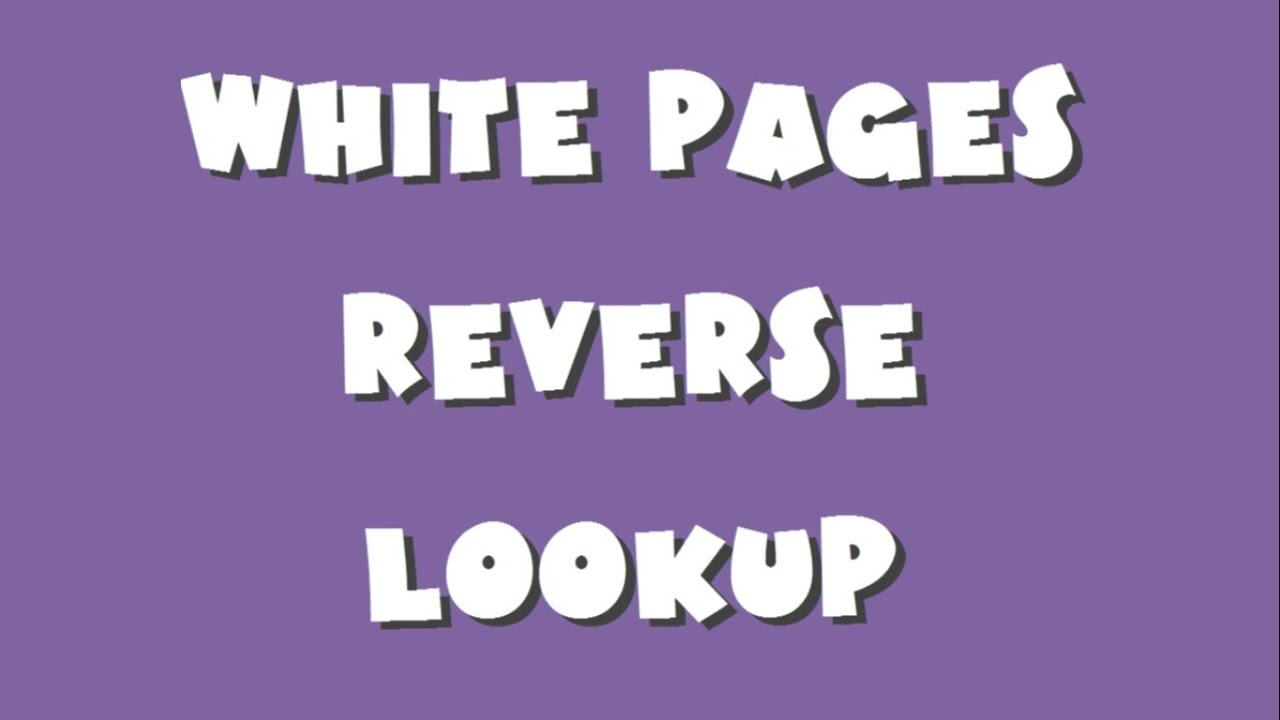 White pages lookup