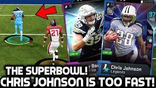 CHRIS JOHNSON IS TOO FAST! THE SUPERBOWL GAME! Madden 19 Ultimate Team