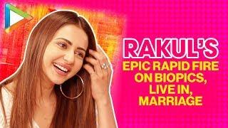 Live In Ya Marriage? | Rakul Preet Singh Chooses…| Rapid Fire | De De Pyaar De | Ajay Devgn