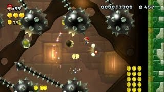 New Super Mario Bros. U -- Boost Mode Tower Climb of Terror in Snake Block Tower