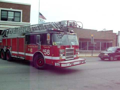 Chicago Firetower 58 responding to fire Call