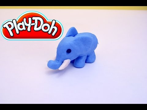 Play-Doh Blue Elephant - How to make a Play-Doh Elephant step-by-step