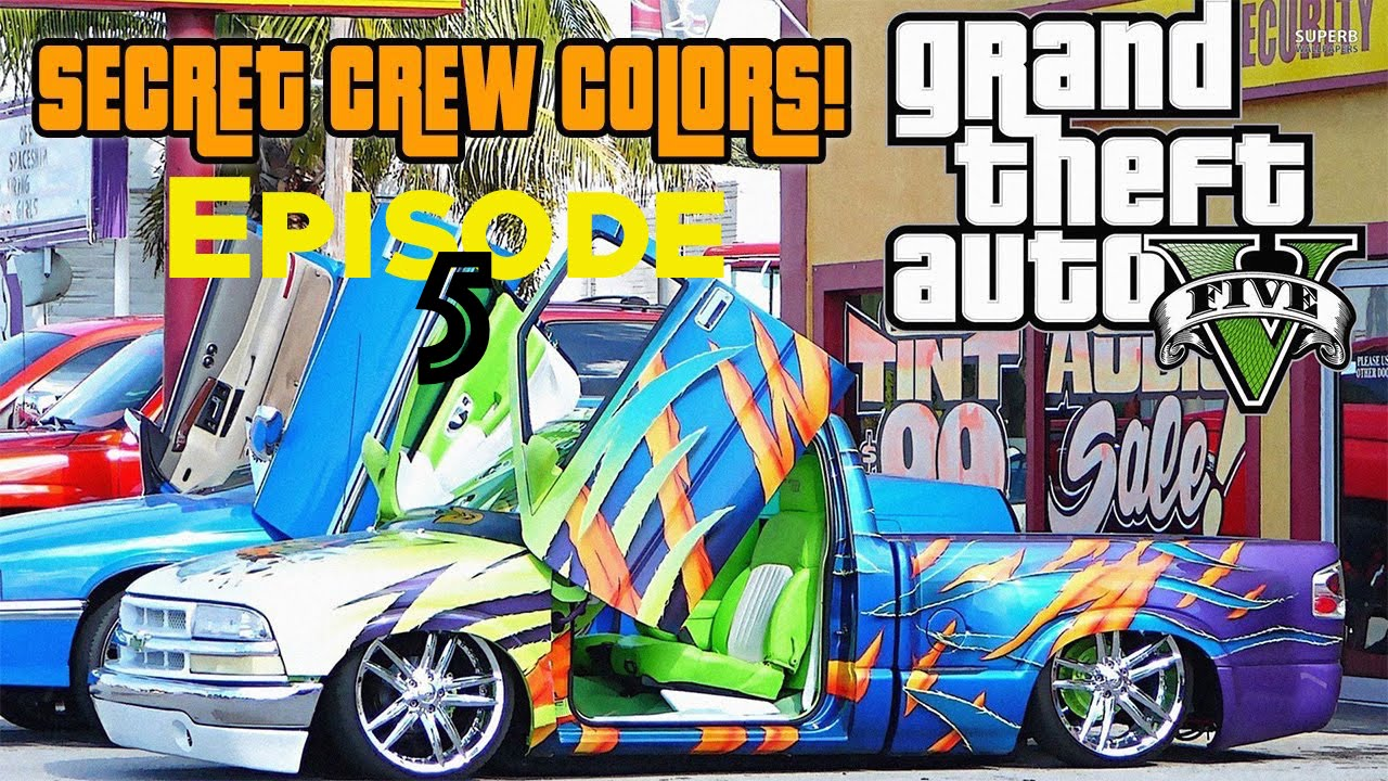 Gta Online Crew Colors Gta 5 Online Best Modded Crew